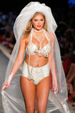 Model Kate Upton walks runway at the Beach Bunny Swimsuit Collection for Spring/ Summer 2012 Stock Photography