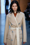 Model Katlin Aas walk the runway at the Derek Lam Fashion Show during MBFW Fall 2015 Royalty Free Stock Photo