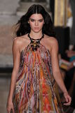 Model  Kendall Jenner walks the runway at the Emilio Pucci show as a part of Milan Fashion Week Royalty Free Stock Photos