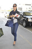 Model Kimora Lee Simmons at LAX airport Stock Photos