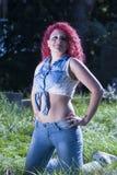 model kvinna Fotografering för Bildbyråer