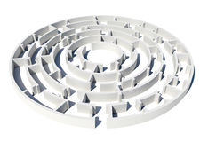 Model of labyrinth Royalty Free Stock Images