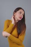 Model lady posing 3 royalty free stock photography
