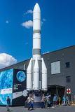 Model of launch vehicle Ariane 6 (A64). Royalty Free Stock Image