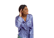 Model listening paying attention Stock Images