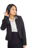 Model listening paying attention Royalty Free Stock Photography