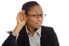 Model listening paying attention Stock Photography