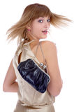Model with little bag Royalty Free Stock Images