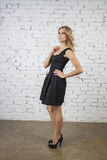 Model in little black dress Royalty Free Stock Images
