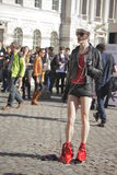 Model at London Fashion Week Royalty Free Stock Photos