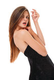 Model with long and  hair. Royalty Free Stock Photo
