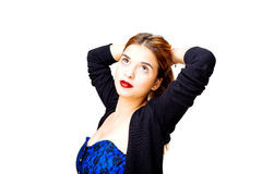 Model looking up Royalty Free Stock Photography