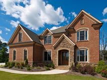 Model Luxury Home Exterior clouds side view Royalty Free Stock Images