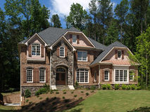 Model Luxury Home Exterior front view Royalty Free Stock Images