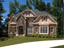 Model Luxury Home Exterior front view driveway Stock Image