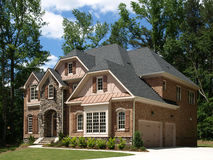Model Luxury Home Exterior side view Royalty Free Stock Images