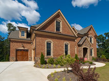 Model Luxury Home Exterior side view clouds Royalty Free Stock Images