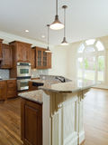 Model Luxury Home Interior Kitchen counter Stock Image