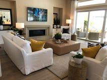 Model Luxury Home Interior. Stock Photos