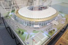 Model of Luzhniki sports arena. Arch Moscow 2015 Royalty Free Stock Photos