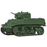 Model M3 Stuart light tank isolated on white 3D Illustration royalty free illustration