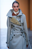 Model Maartje Verhoef walk the runway at the Derek Lam Fashion Show during MBFW Fall 2015 Stock Image