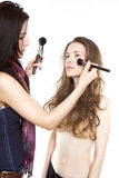 Model and Make up artist Royalty Free Stock Photo