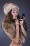 Model makes a make-up Stock Photos