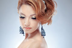 A model with makeup Stock Images