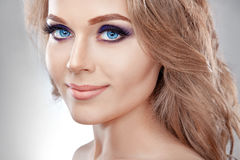 A model with makeup Royalty Free Stock Photography