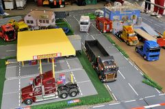 Model making of trucks Royalty Free Stock Image
