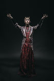 Model man in fantasy costume stock photos