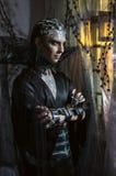 Model man in fantasy costume. In studio Stock Images