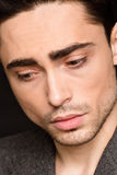 Model man's face close-up Royalty Free Stock Photo