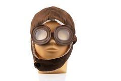 Model mannequin head with pilot cap Stock Images
