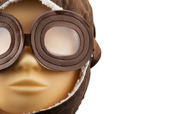 Model mannequin head with pilot cap Royalty Free Stock Photos