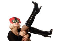 Model in masker Royalty-vrije Stock Foto