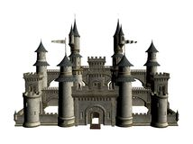 Model of medieval castle Royalty Free Stock Images