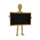 Model met bord Stock Afbeeldingen