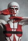 Model met creatief lichaamsart. royalty-vrije stock foto