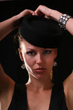 Model met diamantarmband Stock Fotografie