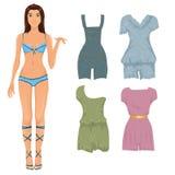 Model met jumpsuits Royalty-vrije Stock Afbeeldingen
