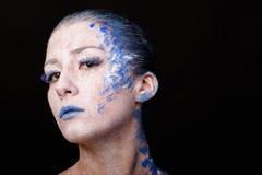 Model met kunstsamenstelling royalty-vrije stock fotografie