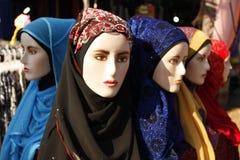 Model met sjaal Stock Afbeelding