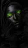 Model met zwart gezicht. royalty-vrije stock foto's