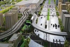 Model miastowy masowy system tranzytowy obraz royalty free
