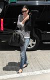Model Miranda Kerr is seen at LAX Royalty Free Stock Images