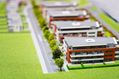 Model of modern block of flats Royalty Free Stock Image