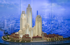 Model of a modern city Royalty Free Stock Photo