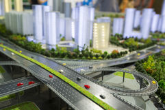 Model of a modern city Stock Photos